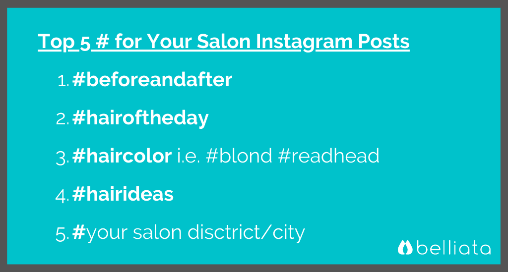 Salon Instagram Hashtags