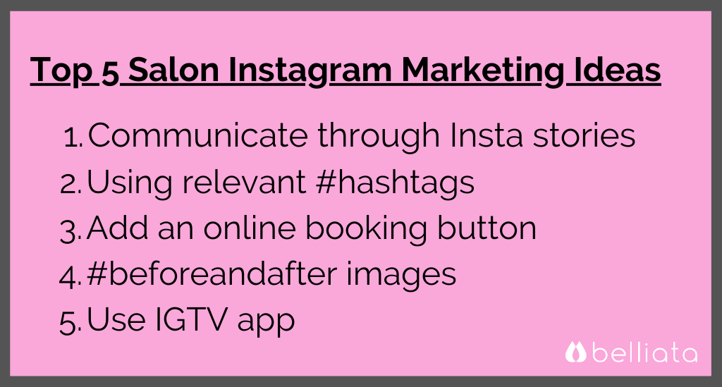 Instagram Salon Marketing Ideas