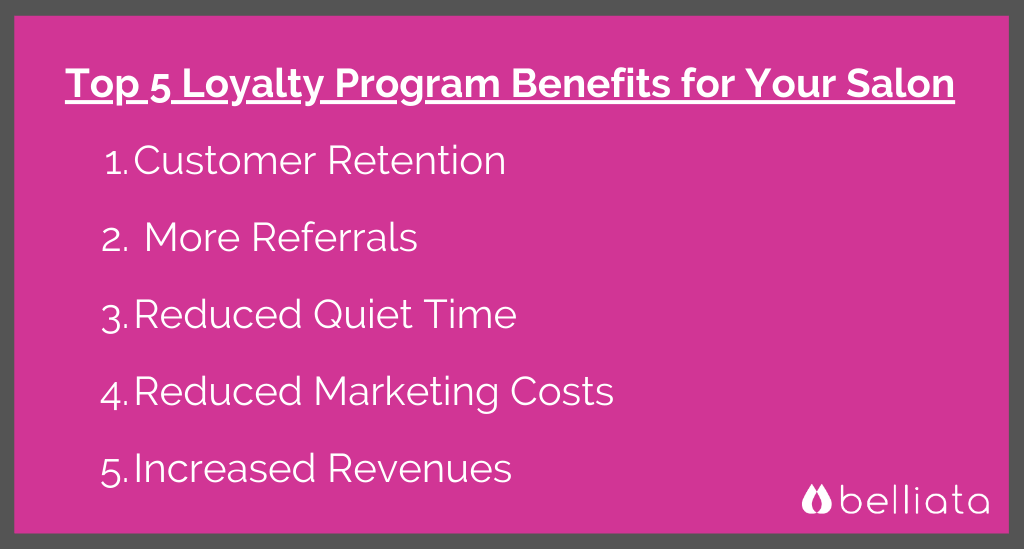 salon marketing loyalty benefits